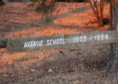 Avenue Range school sign