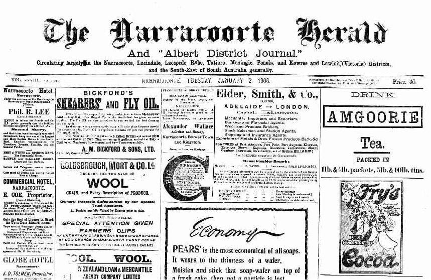 Naracoorte Herald 1906