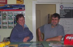 Viv and Mark Gould at the Avenue store in 2002