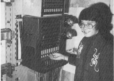 The last telephone exchange with Fran Lloyd operating