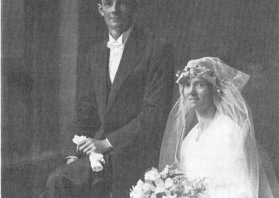 Percy Dow and Lillian Thomas on their wedding day, February 8th 1922
